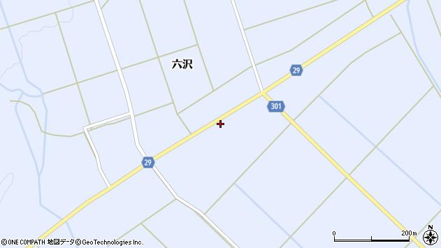 山形県尾花沢市六沢179周辺の地図