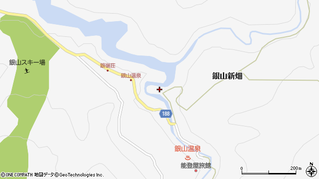 山形県尾花沢市銀山新畑435周辺の地図