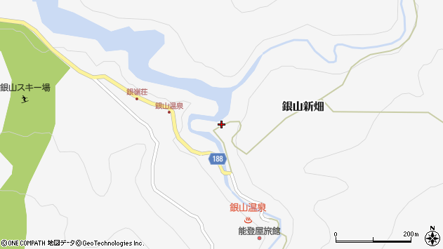 山形県尾花沢市銀山新畑467周辺の地図