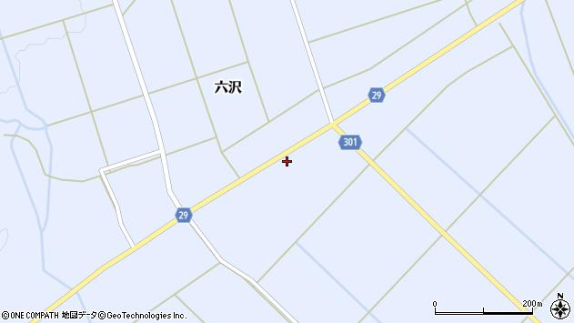 山形県尾花沢市六沢178周辺の地図