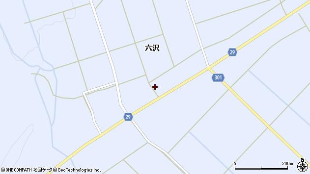 山形県尾花沢市六沢257周辺の地図