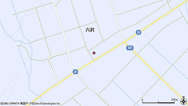 山形県尾花沢市六沢259周辺の地図
