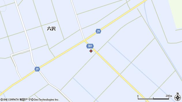山形県尾花沢市六沢166周辺の地図