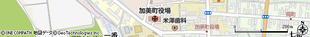 宮城県加美郡加美町周辺の地図