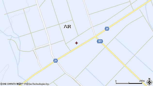 山形県尾花沢市六沢264周辺の地図