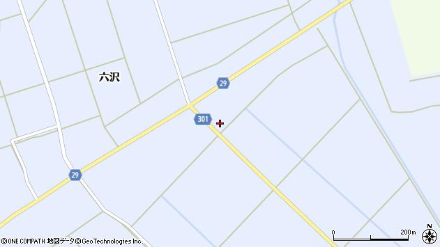 山形県尾花沢市六沢165周辺の地図