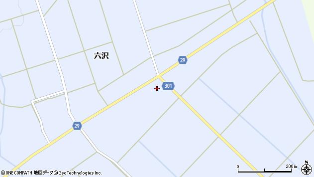 山形県尾花沢市六沢173周辺の地図