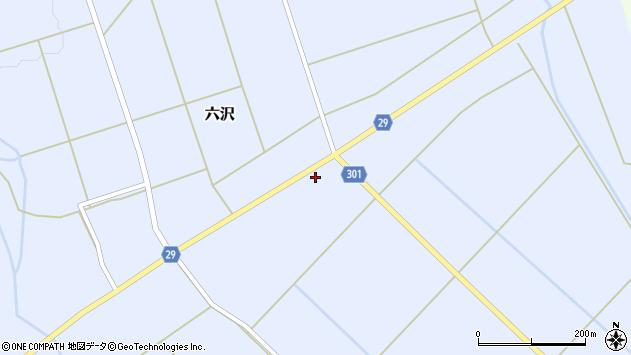 山形県尾花沢市六沢174周辺の地図