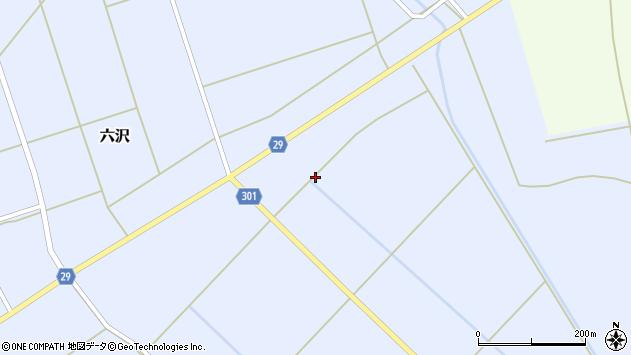 山形県尾花沢市六沢286周辺の地図