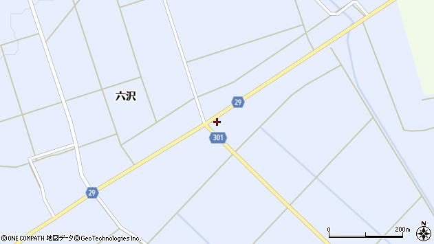 山形県尾花沢市六沢167周辺の地図