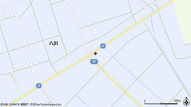 山形県尾花沢市六沢164周辺の地図