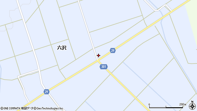 山形県尾花沢市六沢272周辺の地図
