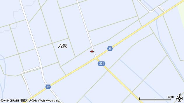 山形県尾花沢市六沢271周辺の地図