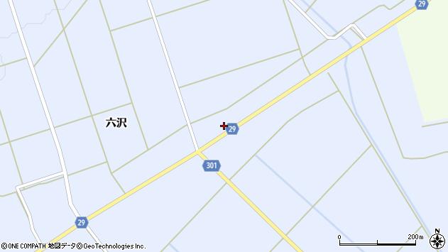 山形県尾花沢市六沢276周辺の地図