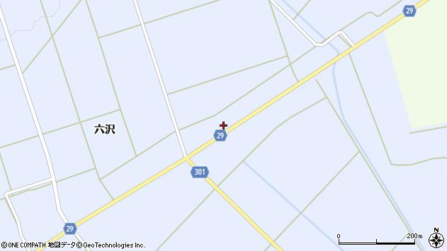 山形県尾花沢市六沢278周辺の地図