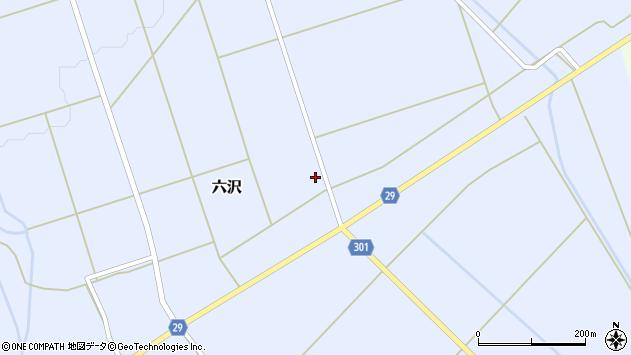 山形県尾花沢市六沢967周辺の地図