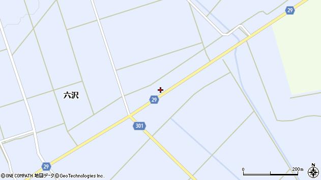 山形県尾花沢市六沢279周辺の地図