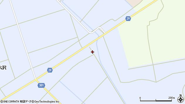 山形県尾花沢市六沢45周辺の地図