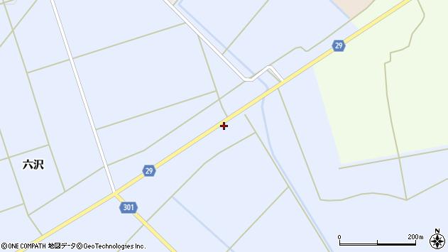 山形県尾花沢市六沢49周辺の地図