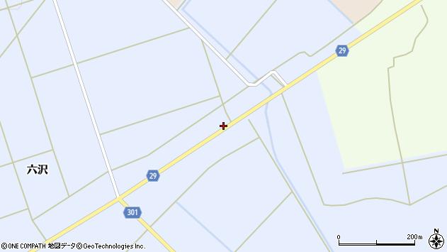 山形県尾花沢市六沢828周辺の地図