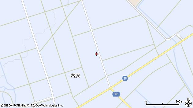 山形県尾花沢市六沢972周辺の地図