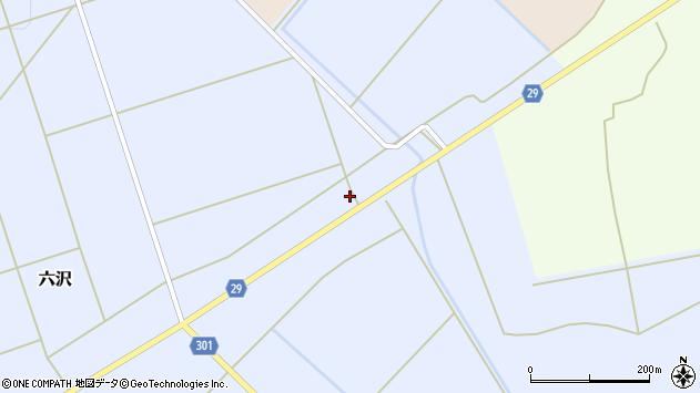 山形県尾花沢市六沢826周辺の地図