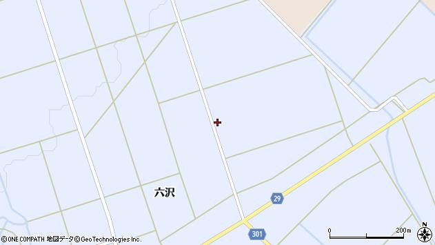 山形県尾花沢市六沢941周辺の地図