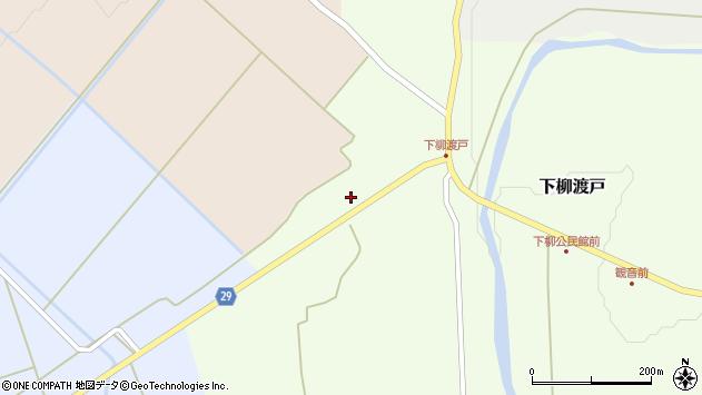 山形県尾花沢市下柳渡戸436周辺の地図