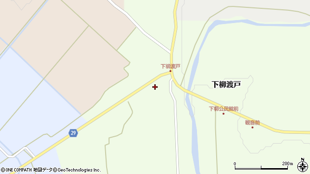 山形県尾花沢市下柳渡戸534周辺の地図