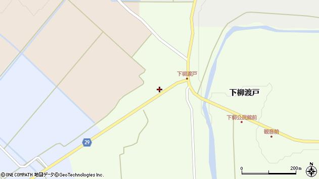山形県尾花沢市下柳渡戸437周辺の地図