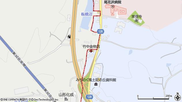 山形県尾花沢市五十沢174周辺の地図