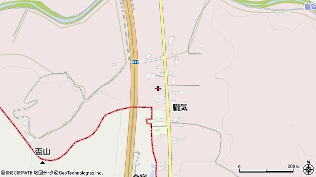 山形県尾花沢市朧気661周辺の地図