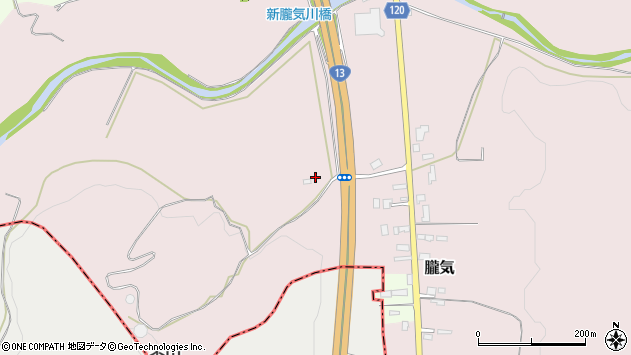 山形県尾花沢市朧気84周辺の地図