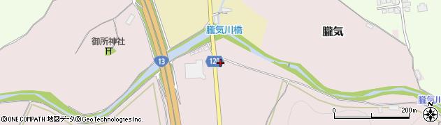 山形県尾花沢市朧気43周辺の地図