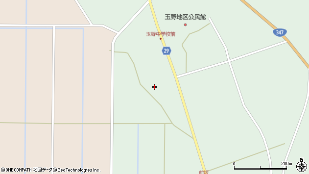 山形県尾花沢市鶴巻田1168周辺の地図