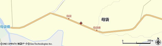 山形県尾花沢市母袋周辺の地図