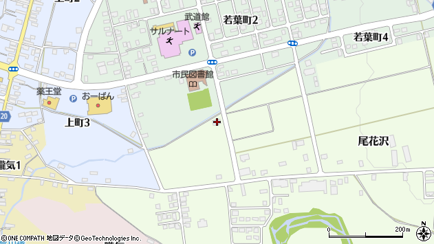 山形県尾花沢市尾花沢2965周辺の地図