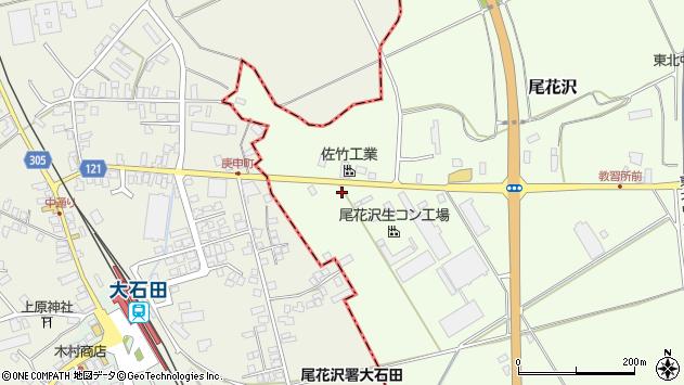 山形県尾花沢市尾花沢1304周辺の地図