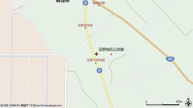 山形県尾花沢市鶴巻田851周辺の地図