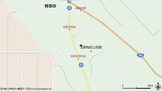 山形県尾花沢市鶴巻田863周辺の地図