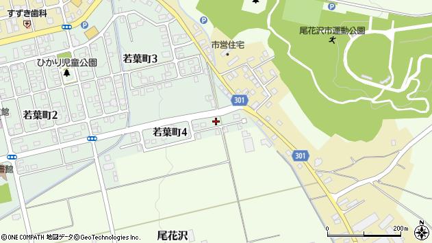 山形県尾花沢市若葉町4丁目周辺の地図