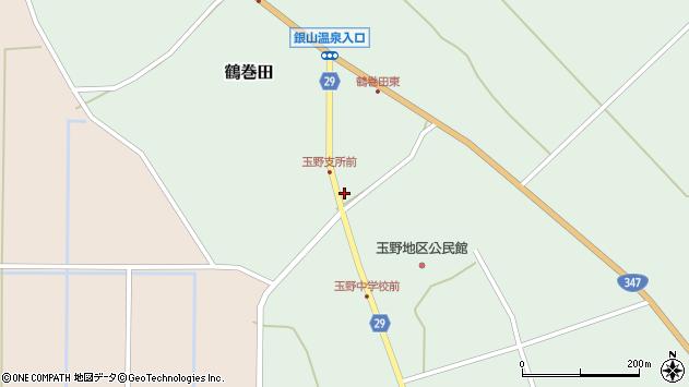 山形県尾花沢市鶴巻田487周辺の地図