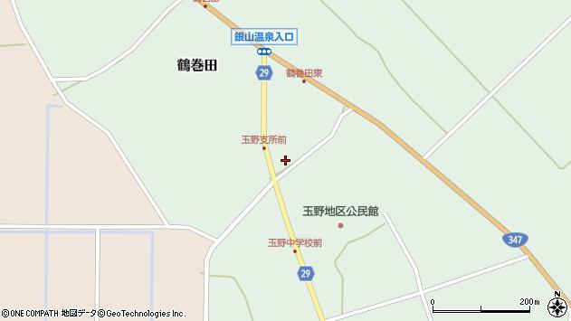 山形県尾花沢市鶴巻田486周辺の地図