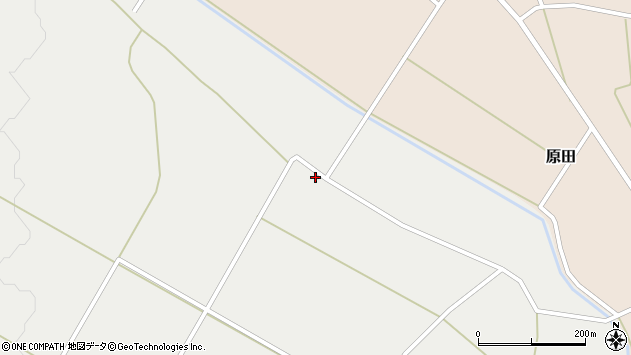 山形県尾花沢市二藤袋1386周辺の地図
