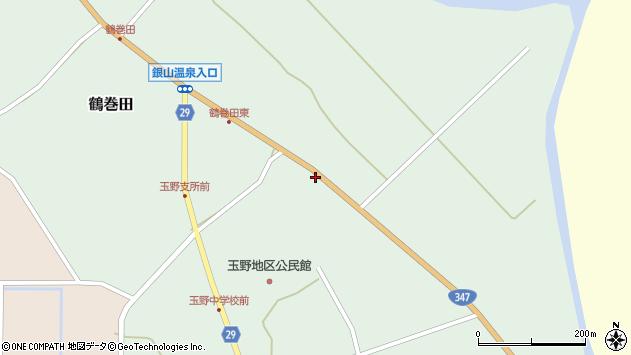 山形県尾花沢市鶴巻田875周辺の地図