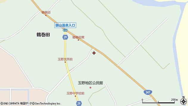 山形県尾花沢市鶴巻田873周辺の地図