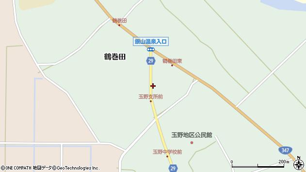 山形県尾花沢市鶴巻田481周辺の地図