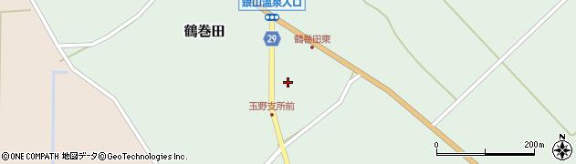山形県尾花沢市鶴巻田473周辺の地図