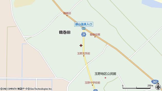山形県尾花沢市鶴巻田480周辺の地図