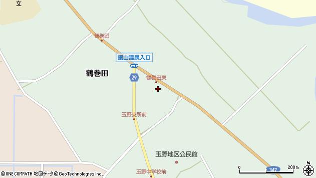 山形県尾花沢市鶴巻田456周辺の地図